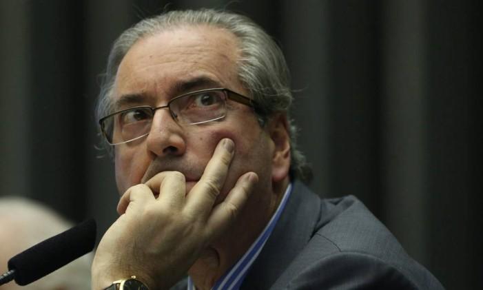 O presidente da Câmara, Eduardo Cunha (PMDB-RJ) Foto: André Coelho / Agência O Globo