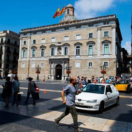 Sede do Parlamento catalão, em Barcelona, Espanha Foto: David Ramos / Bloomberg