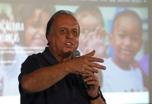 O governador do Rio, Luiz Fernando Pezão Foto: Márcio Alves / Agência O Globo