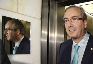 Em nota, Cunha reafirma depoimento à CPI da Petrobras Foto: Ailton de Freitas 01/10/2015 / Agência O Globo
