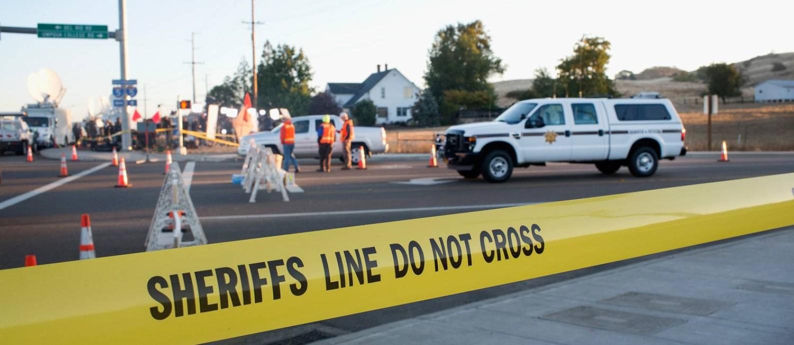 Ataque em Roseburg chocou pequena cidade do Oregon Foto: SCOTT OLSON / AFP