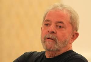 O ex-presidente Lula durante reunião do conselho do PT Foto: Marcos Alves / Agência O Globo / Arquivo 21/09/2015