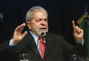 O ex-presidente Lula Foto: HUGO VILLALOBOS/AFP