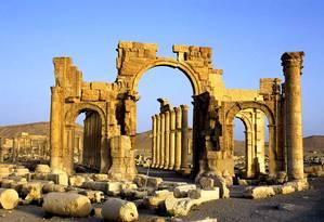 Arco do Triunfo de Palmira era um dos símbolos de cidade Patrimônio da Humanidade Foto: Reprodução