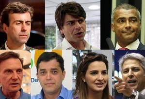 Pré-candidatos à prefeitura do Rio Foto: Montagem/O GLOBO
