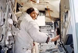 Neil Armstrong em treinamento para a Apollo 11 Foto: Nasa