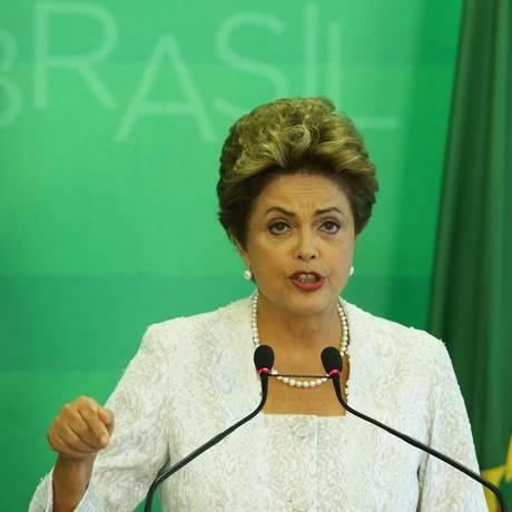 A presidente Dilma Rousseff Foto: Jorge William / 02/10/2015 / Agência O Globo