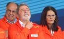 O então presidente Lula e a então presidente da Petrobras, Graça Foster, durante inauguração da P-57 Foto: Gabriel de Paiva/7-20-2010
