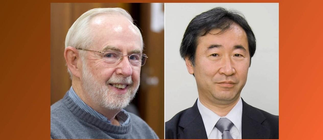 Arthur McDonald, da Queen's University, e Takaaki Kajita, da Universidade de Tóquio Foto: Queens University/Kyodo News via AP