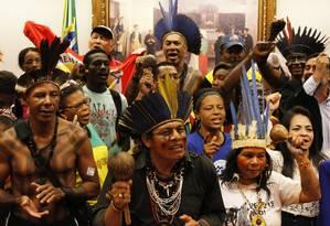 Cerca de 80 pessoas ocuparam sala da Câmara Foto: Ailton de Freitas / Agência O Globo