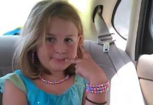 Maykayla Dyer, 8 anos, levou um tiro do vizinho, de 11 anos, por não lhe mostrar cachorros de estimação Foto: Reprodução