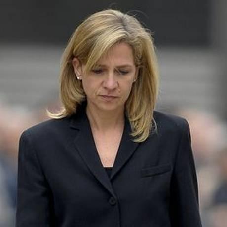 Cristina, segunda filha do rei Juan Carlos, é acusada de compactuar com desvios do marido, Iñaki Urdagarin Foto: AFP