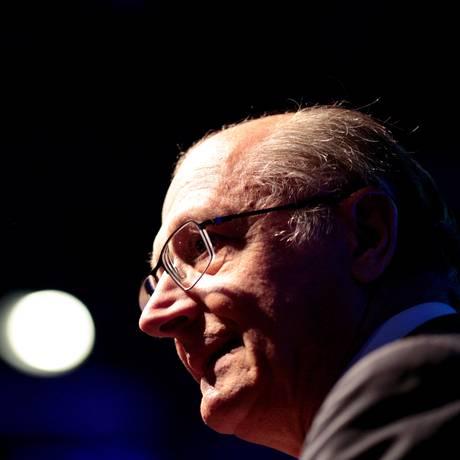 O governador de Sao Paulo Geraldo Alckmin, que negou ter ordenado a classificação dos documentos como ultrassecretos Foto: Pedro Kirilos / 22-09-2015 / Agência O Globo