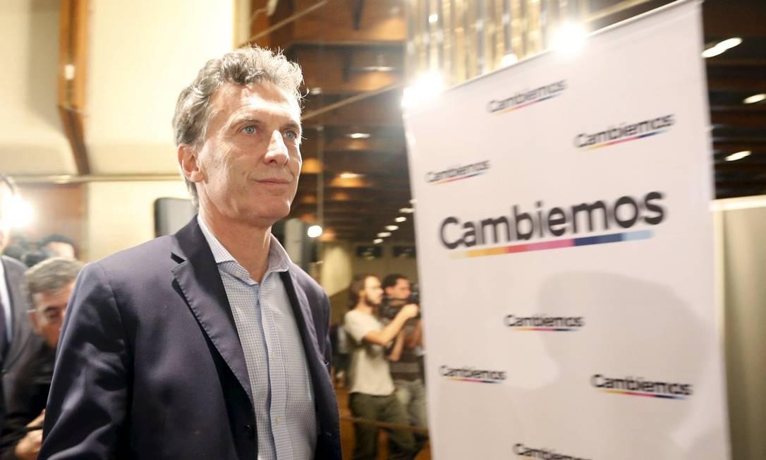Em coletiva de imprensa com correspondentes estrangeiros, Macri destacou importância de relação com o Brasil Foto: ENRIQUE MARCARIAN / REUTERS