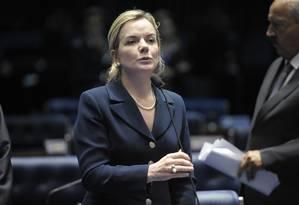 Ataques ao TCU começaram com a senadora Gleisi Hoffman(PT-PR) Foto: Jefferson Rudy/Agência Senado (22/09/2015)