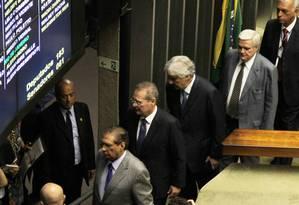 Sessão do Congresso para analisar vetos presidenciais foi encerrada por falta de quorum Foto: Aílton de Freitas / Agência O Globo / Agência O Globo