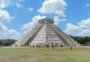 A pirâmide de Kukulcán, em Chichén Itzá Foto: Felipe Tavares / Agência O Globo