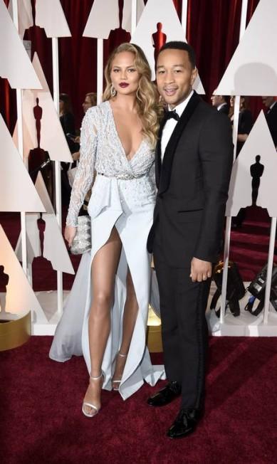 """Apontada pelo portal """"Models.com"""" como uma das modelos mais sensuais do mundo, Chrissy Teigen se casou com o cantor John Legend Frazer Harrison / AFP"""