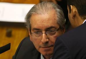 O presidente da Câmara Eduardo Cunha Foto: Jorge William / Agência O Globo