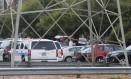 Carros de polícia guardam a universidade texana após ataque Foto: Reprodução