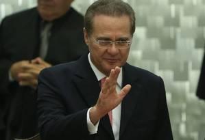 O presidente do Senado, Renan Calheiros Foto: André Coelho / Agência O Globo 30/09/2015