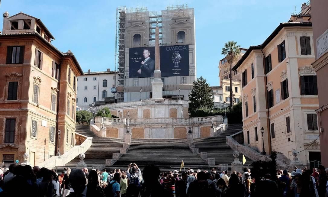 Escadaria da Piazza di Spagna em Roma fecha para reforma