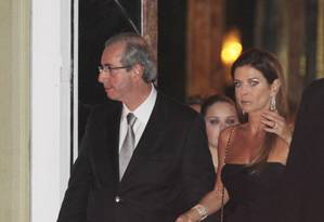 O presidente afastado da Câmara dos Deputados Eduardo Cunha e sua mulher Claudia Cruz Foto: Michel Filho / Agência O Globo