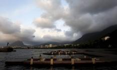 Lagoa Rodrigo de Freitas entre nuvens Foto: Fabio Rossi / Agência O Globo