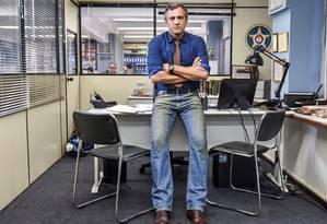 Domingos Montagner na série 'Romance policial — Espinosa' Foto: Divulgação
