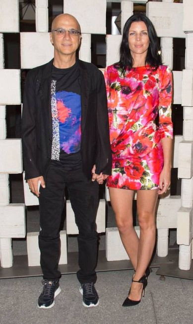 A atriz Liberty Ross e Jimmy Lovine VALERIE MACON / AFP