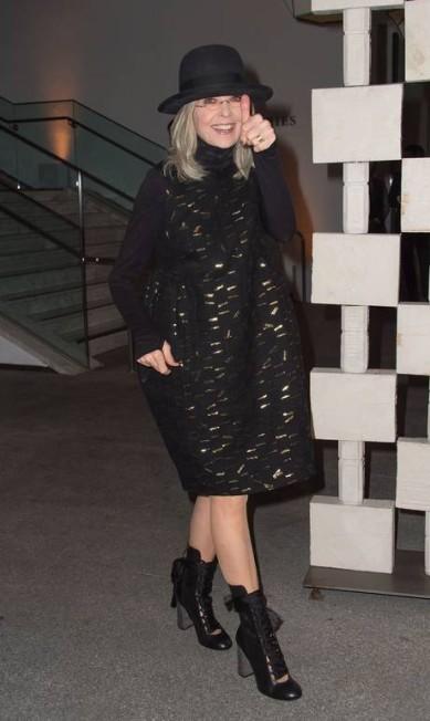 A atriz Diane Keaton VALERIE MACON / AFP