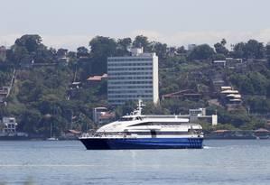 CCR pretende deixar operação das barcas Foto: Marcos Tristão / Agência O Globo/11-03-2014