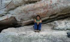Painel do Pilão. Solange Bastos em Monte Alegre, no Pará, próximo ao sítio arqueológico mais antigo da Amazônia, de 13 mil anos Foto: Divulgação