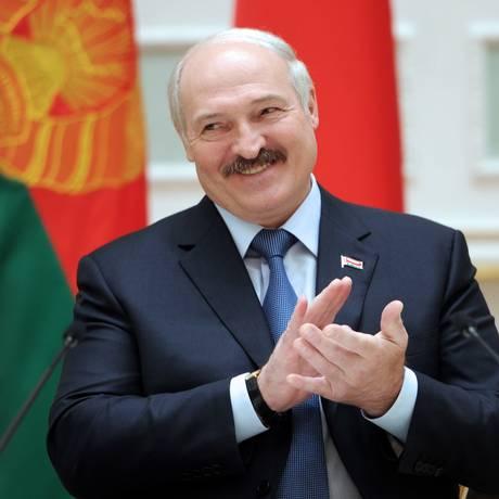 Presidente Alexander Lukashenko obteve 83,49% dos votos Foto: SERGEI GAPON / AFP