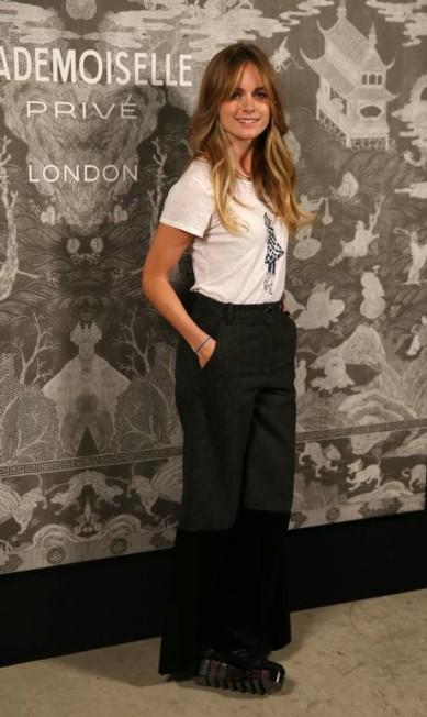 A ex-namorada do príncipe Harry, Cresida Bonas, foi outro destaque da abertura da exposição, em Londres Joel Ryan / Joel Ryan/Invision/AP
