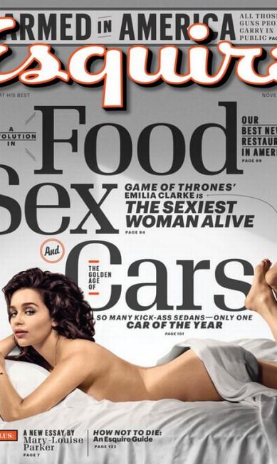 Emilia Clarke na capa da Esquire Divulgação
