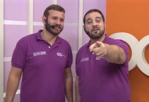 Os professores do QG do Enem Fábio Vidal e Ronaldo Ayres Foto: Reprodução/YouTude