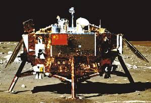 A Chang'e 3 pousou na Lua em dezembro de 2013 Foto: WIKIMEDIA
