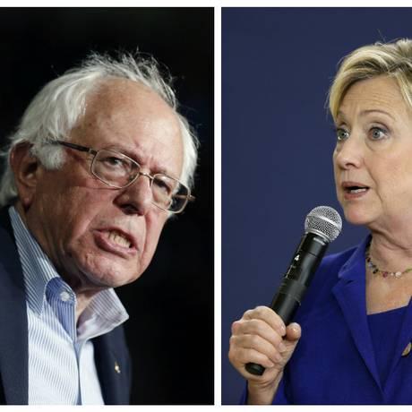 Hillary Clinton vai buscar toque pessoal, e Bernie Sanders alcançar eleitorado mais à esquerda Foto: AP