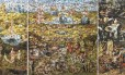 Obra de Vik Muniz foi criada com peças de quebra-cabeça sobrepostas