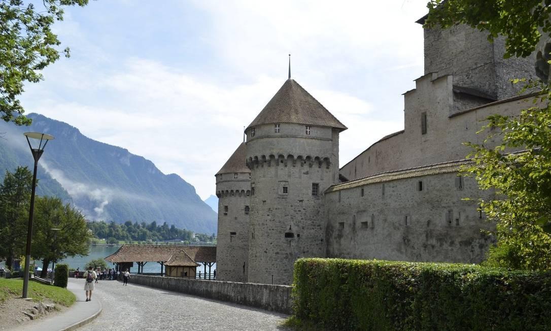 Castelo. Chillon é a construção histórica mais visitada da Suíça Foto: