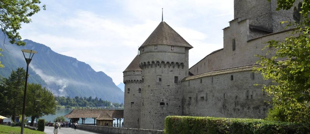 Castelo. Chillon é a construção histórica mais visitada da Suíça Foto: Cristina Massari