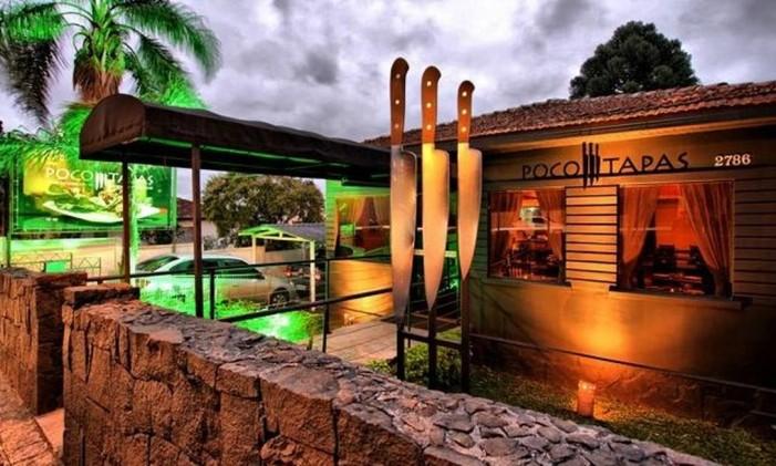 O restaurante Poco Tapas, em Curitiba Foto: Divulgação