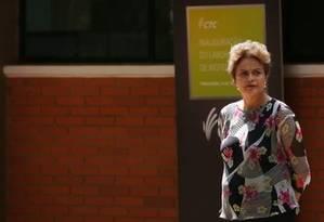 A presidenta Dilma Rousseff em Piracicaba (SP) Foto: Fernando Donasci