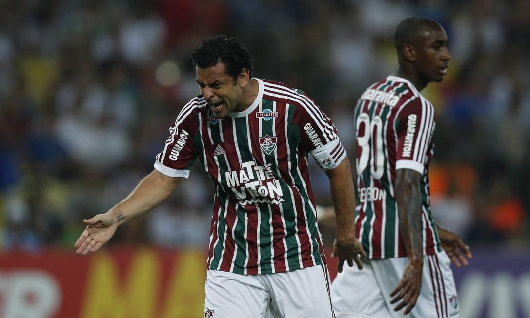 Fred gesticula na partida no Maracanã Alexandre Cassiano