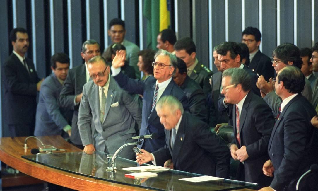 Ele foi efetivado como presidente da República em 29 de dezembro de 1992, dois meses depois Foto: Sérgio Marques / Agência O Globo