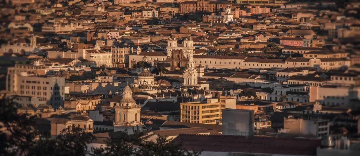 Vista do Centro Histórico, de Quito Foto: Francisco Veintimilla/Quito Turismo/Divulgação