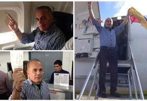 Rosales foi preso pouco após chegar a Maracaibo, onde faria comício Foto: Reprodução / Twitter