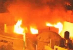 Palestinos incendiaram o túmulo de José, em Nablus, na Cisjordânia Foto: Exército de Israel