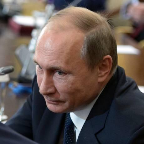 Putin em Astana, no Cazaquistão: russo justifica ataques contra rebeldes e jihadistas Foto: ALEXEI NIKOLSKY / AFP